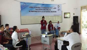 99 Siswa SMA se-Babel Ikut Lomba Kemahiran Berbahasa Indonesia