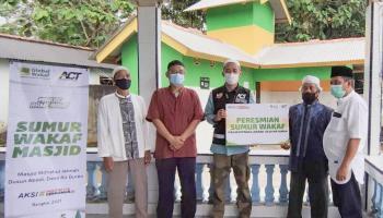 ACT Bangka Resmikan Sumur Wakaf di Masjid Miftahul Jannah Pemali