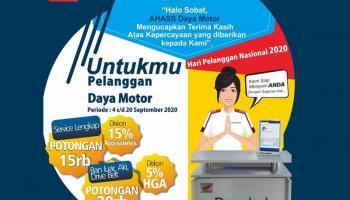 Ahass Daya Motor Belitung Gelar Promo Menarik Hari Pelanggan Nasional