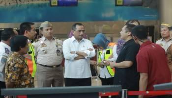 Akan Diresmikan Jokowi, Menhub Tinjau Bandara Depati Amir