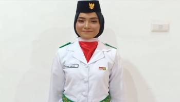 Anak Tukang Bangunan Jadi Anggota Paskibra Kota Pangkal Pinang