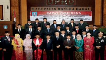 Anggota DPRD Bangka Barat 2019-20124 Siap Bertugas