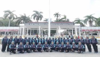 Foto - Foto Anggota Paskibra Kota Pangkal Pinang Gelar Gladi Kotor