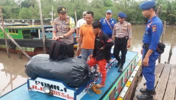 Antisipasi Peredaran Narkoba, Polsek Sungai Selan Cek Penumpang Arus Balik di Pelabuhan