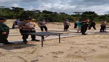 Asah Kemampuan Anggota, Polres Bangka Barat Gelar Latihan Menembak