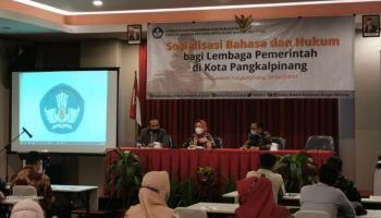 ASN Kota Pangkalpinang Ikuti Sosialisasi Bahasa dan Hukum dari Kantor Bahasa