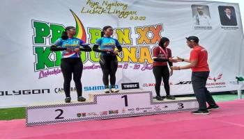 Atlet Sepeda Putri Babel Tunjukkan Taringnya, Gadis 17 Tahun Ini Raih Podium Ketiga