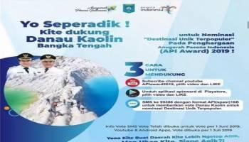 Ayo Dukung Destinasi Wisata Danau Kaolin Dalam Nominasi API 2019