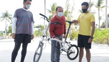 Bangga Gunakan Produk Lokal, Gubernur Erzaldi Pesan Sepeda Lipat Billiton