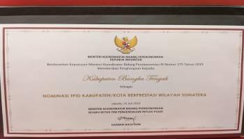 Bangka Tengah Raih Penghargaan TPID Kabupaten Berprestrasi