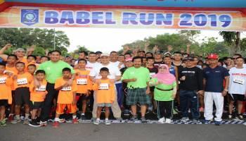 Bangun Sport Tourism Babel, Gubernur Lepas 1.400 Peserta Babel Run