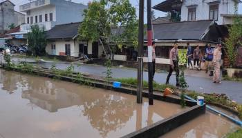 Banjir Mulai Surut Menjelang Maghrib, Warga Rawa Bangun Toboali Sudah Bisa Kembali ke Rumah