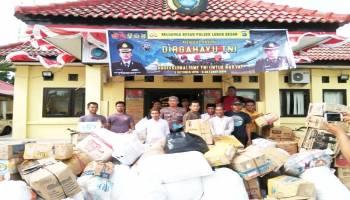 Bantu Korban Gempa di Sulawesi Tengah, Polsek Lubukbesar Galang Bantuan
