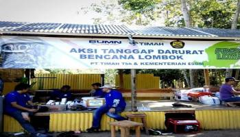 Bantu Korban Gempa Lombok, PT Timah Kirim Tim Tanggap Darurat