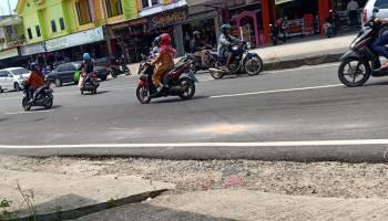 Banyak Pengendara Melawan Arus di Simpang 7 DKT