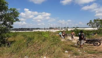 Baru 10 Hari Ditertibkan Tim Gabungan, Area DAM Putus Lampur - Munggu Kembali Dipenuhi Penambang