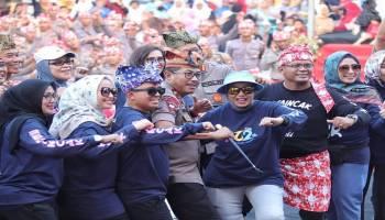 Bedincak Bikin Heboh HUT 262 Pangkalpinang, Walikota Ajak Semua Tersenyum