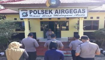 Bentuk Prihatin Korban Pesawat Lion Air JT 610, Polsek Air Gegas Gelar Doa Bersama