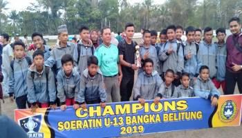 Berangkat Naik Pick Up, Persipas U-13 Bawa Pulang  Juara Tiga Piala Suratin Babel