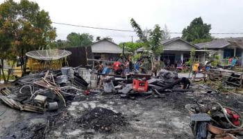 Berbagai Elemen di Desa Pangkalbuluh Galang Dana untuk Korban Kebakaran