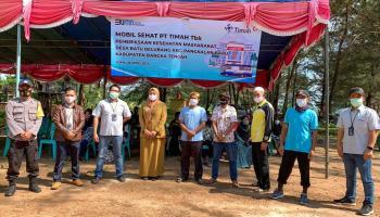 Beri Layanan Kesehatan Gratis, Mobil Sehat PT Timah Tbk Datangi Masyarakat Desa Batu Belubang