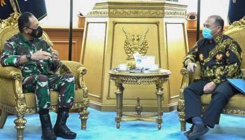 Bertemu Kepala Staf TNI AU, Gubernur Erzaldi Bahas Kejuaraan Menembak IPSC di Babel