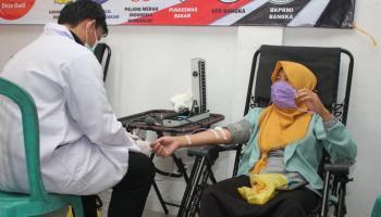 BKPRMI Bangka Gelar Donor Darah Dan Pemeriksaan Kesehatan Gratis Di Desa Dalil