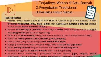 BPNB Riau Tantang Pelajar Babel Ikut Lomba Mendongeng Berbahasa Melayu
