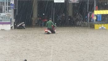 Breaking News: Banjir di  Pangkalpinang, Hindari Ruas Jalan Ini