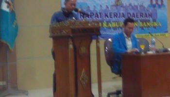 Buka Rakerda KNPI Bangka, Bupati Harap Pemuda Berada Di Garis Terdepan Dalam Pembangunan Daerah