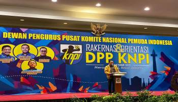 Buka Rakernas DPP KNPI, BPJ: KNPI Mulai Ditinggalkan Pemerintah
