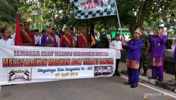 Bupati Bangka Lepas Peserta Karnaval Budaya HUT ke 253 Kota Sungailiat