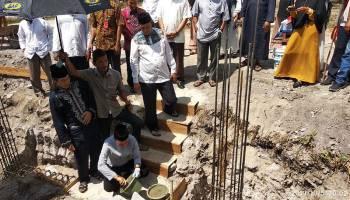 Bupati Bangka Letakkan Batu Pertama Pembangunan Gedung TPA & Tahfidz Al-Qur'an Al Mujahiddin