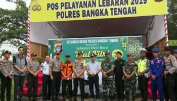 Bupati Bateng dan Kapolres Tinjau Posko Pengamanan dan Pelayanan Arus Mudik