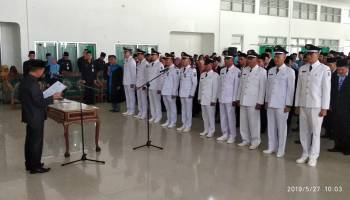 Bupati Lantik 155 Pejabat Administrator dan Pengawas Baru Pemkab Bangka
