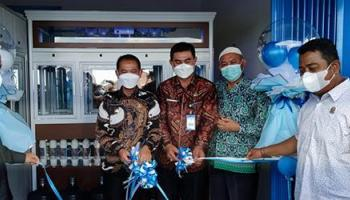 Bupati Mulkan Launching Air Minum Isi Ulang Reverse Osmosis