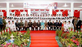 Bupati Parhan Kukuhkan 65 Anggota Paskibraka Bangka Barat