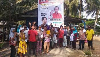 Caleg PDI Perjuangan Ratno Budi Rayu Masyarakat Pesisir Pantai