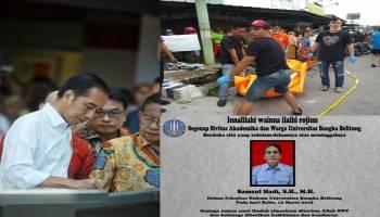Catatan Sepekan: Mayat Dalam Selokan, Jokowi Targetkan Bandara Depati Amir Tampung 5 Juta Penumpang, Dekan FH UBB Tutup Usia