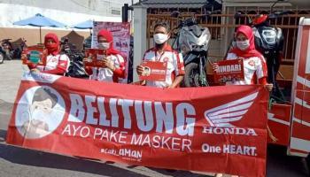 Cegah Penyebaran Covid-19, Daya Motor Belitung Kampanye Protokol Kesehatan