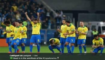 Copa America 2019: Brasil Depak 10 Pemain Paraguay Lewat Adu Pinalti
