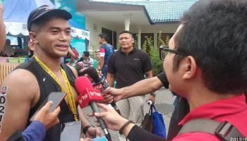 Cuaca Jadi Tantangan Bagi Peserta Sungailiat Triathlon 2019