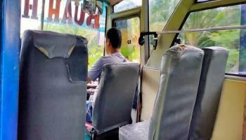 Dampak dari Virus Corona, Bus Rute Toboali - Pangkalpinang Sepi Penumpang