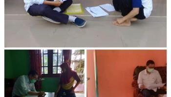 Dampak Pandemi Corona, Guru Pun Door to Door Jemput Tugas Murid ke Rumah