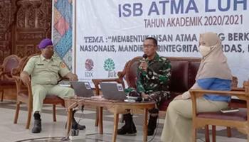 Dandrem M. Jangkung Kenalkan Bela Negara Kepada Mahasiswa Baru ISB Atma Luhur