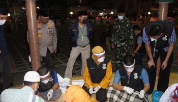 Danrem 045/Gaya Bersama Gubernur dan Kapolda Babel Tinjau Pelaksanaan Rapid Test Massal