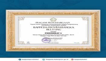 Dapat Nilai IKPA Tertinggi, Bappeda Babel Terima Penghargaan dari KPPN