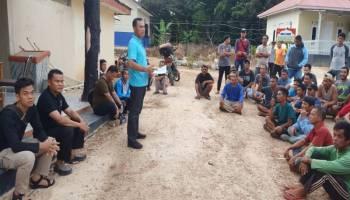 Datangi Bascamp Pekerja Tambang, Ketua BPD Tanjung Labu Nyaris Kena Bogem Mentah