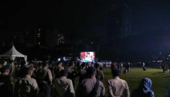Debat Capres: Pendukung Dua Pasangan Capres Akur Nobar Debat di Lapangan