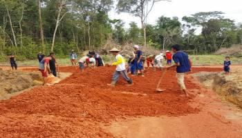 Desa Nibung Kecamatan Puding Besar 2019 Bangun Infrastruktur Desa